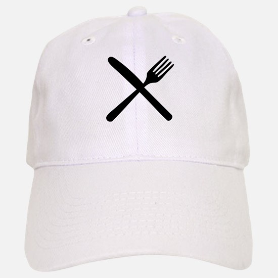 cutlery - knife and fork Baseball Baseball Cap