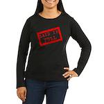 laid in full Women's Long Sleeve Dark T-Shirt