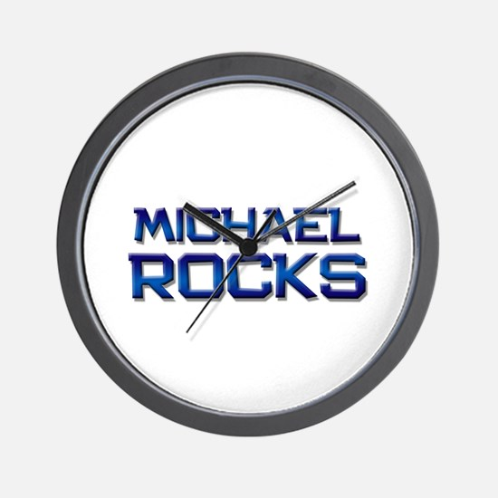 michael rocks Wall Clock