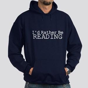 Rather Be Reading Hoodie (dark)