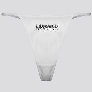 Rather Be Reading Classic Thong