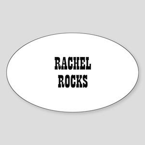 RACHEL ROCKS Oval Sticker