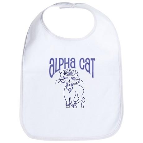 Alpha Cat Blue Bib