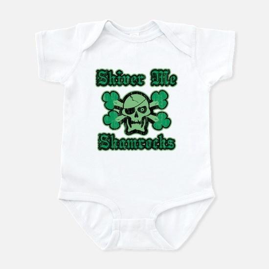Shamrock Green Pirate Infant Bodysuit