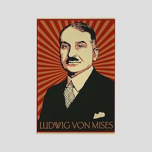 Ludwig von Mises Rectangle Magnet