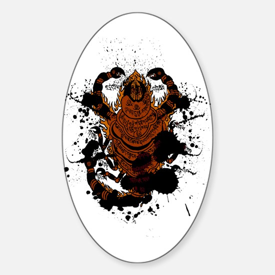 Scorpion charm Oval Decal