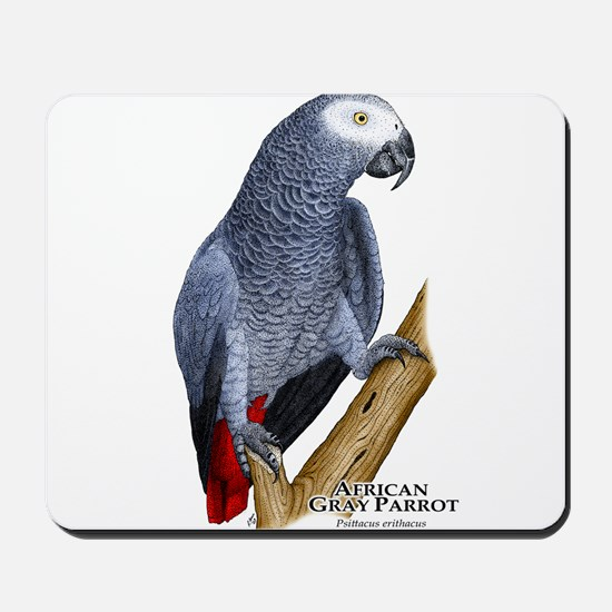 African Gray Parrot Mousepad