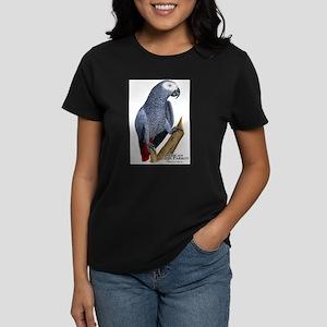 African Gray Parrot Women's Dark T-Shirt