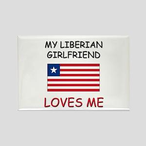 My Liberian Girlfriend Loves Me Rectangle Magnet