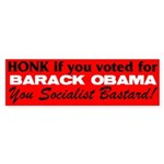 Honk If You Voted For Barack Sticker (Bumper 10 pk