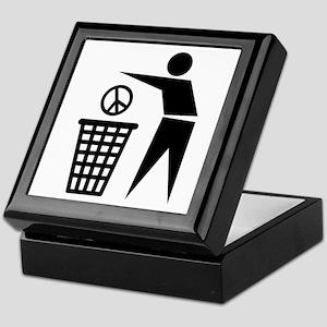 Peace receptacle Keepsake Box