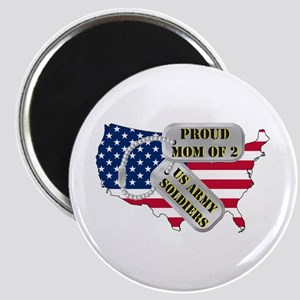 Proud Mom of 2 US Army Soldiers Magnet