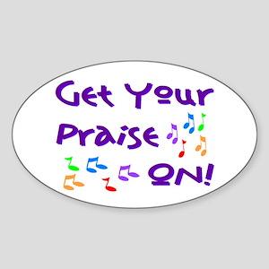 Christian Music Oval Sticker
