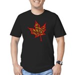 Fire Leaf Men's Fitted T-Shirt (dark)