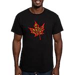 Fire Leaf Men's Fitted T-Shirt (dark)