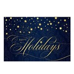 Navy Blue And Gold Postcards (package Of 8)