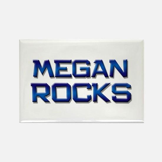 megan rocks Rectangle Magnet