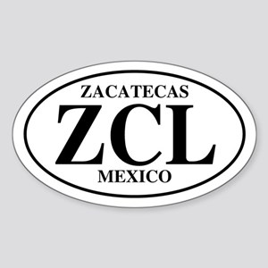 ZCL Zacatecas Oval Sticker