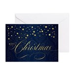 Navy Blue And Gold Holiday Greeting Greeting Cards