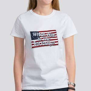 Which Way to The Tea Party? Women's T-Shirt