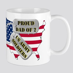 Proud Dad of 2 US Army Soldiers Mug