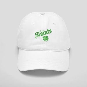 Slainte with Four Leaf Clover Cap