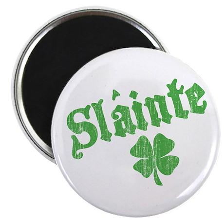 Slainte with Four Leaf Clover Magnet