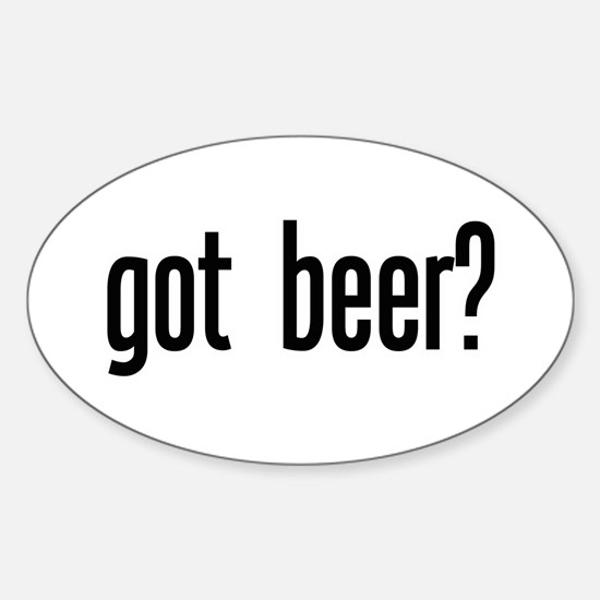 got beer? Oval Decal