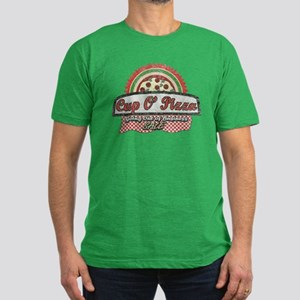 Cup O'Pizza Men's Fitted T-Shirt (dark)