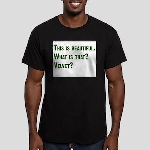 What is that? Velvet? Men's Fitted T-Shirt (dark)