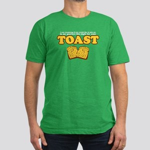 Nacho - Toast Men's Fitted T-Shirt (dark)