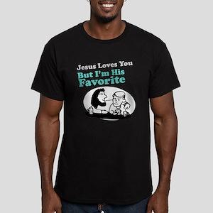 Jesus Loves You Men's Fitted T-Shirt (dark)