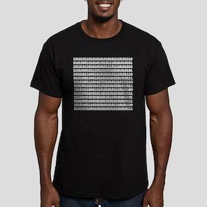 Bug In Code Men's Fitted T-Shirt (dark)