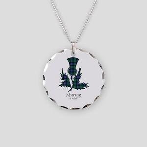 Thistle-MurrayAtholl Necklace Circle Charm