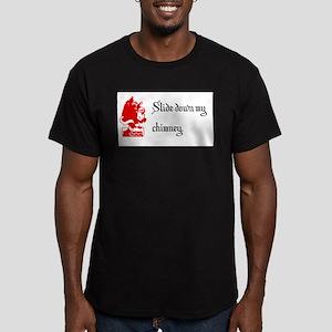 Slide Down My Chimney Men's Fitted T-Shirt (dark)