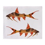 goonch catfish Throw Blanket