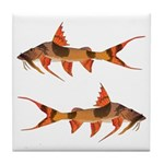 goonch catfish Tile Coaster