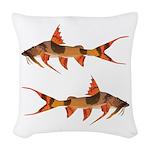 goonch catfish Woven Throw Pillow