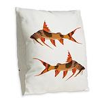 goonch catfish Burlap Throw Pillow