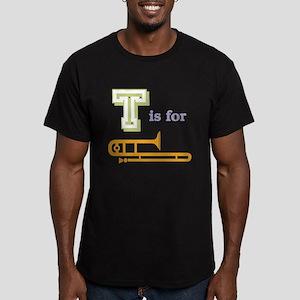 Tis for Trombone Men's Fitted T-Shirt (dark)