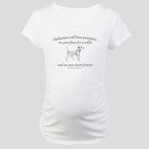 Dalmatian Pawprints Maternity T-Shirt