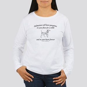 Dalmatian Pawprints Women's Long Sleeve T-Shirt