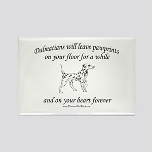Dalmatian Pawprints Rectangle Magnet