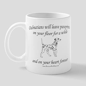 Dalmatian Pawprints Mug