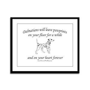 Dalmatian Pawprints Framed Panel Print