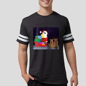 sleigh black santa T-Shirt