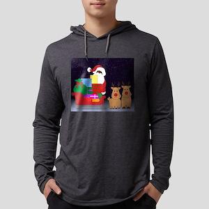 sleigh black santa Long Sleeve T-Shirt