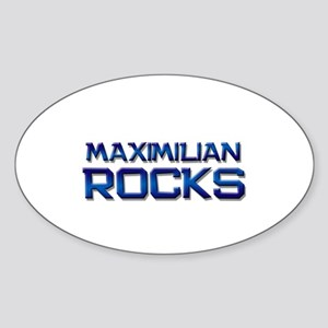 maximilian rocks Oval Sticker