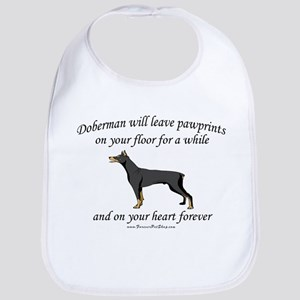 Doberman Pawprints Bib
