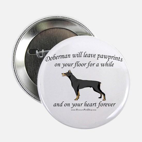 """Doberman Pawprints 2.25"""" Button"""